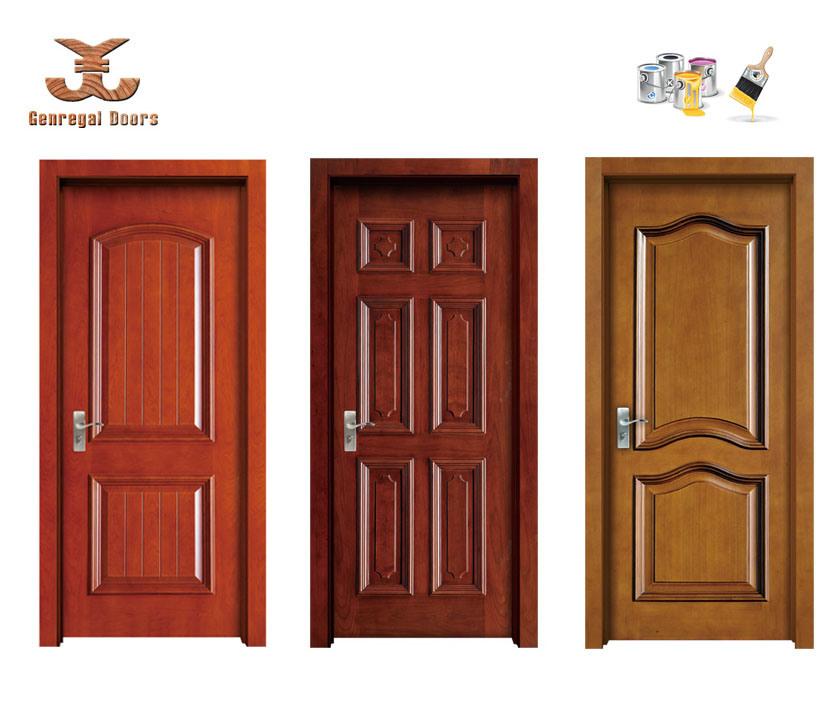 Puerta de madera de la pintura de la calidad con el marco - Pintura puertas madera ...