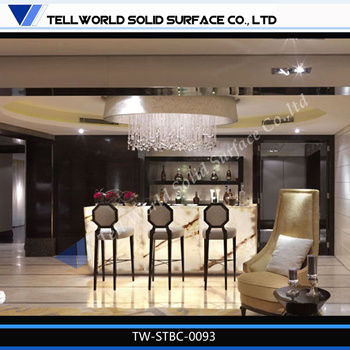 China tw home bar furniture led wine mini bar counter for Bar showcase for home