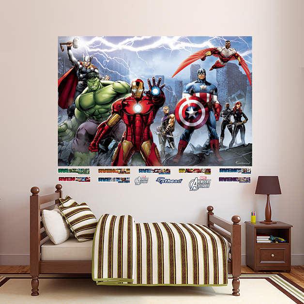 Fashion New Creative Removable Kids Room Decor Super Hero Avengers Hulk Wall Sticker