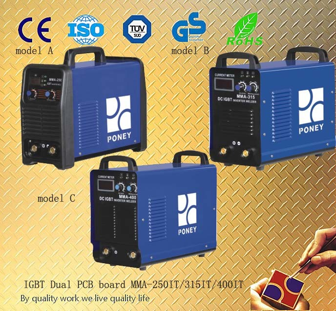 MMA DC Inverter IGBT Tupe Approve CE and RoHS Welding Machine (MMA-250IT/315IT/400IT)