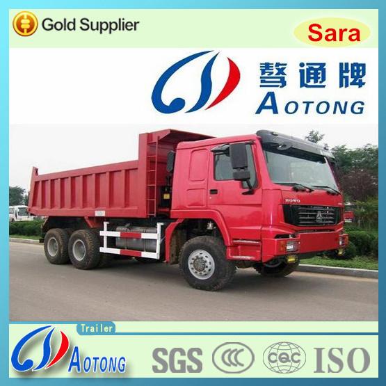 HOWO 6*4 Hydraulic Cylinder Dump Truck/Tipper Rear Dumper Truck