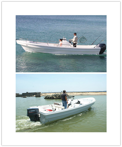 Customized Factory 22′all New Fiberglass FRP Leisure Yacht Open Boat