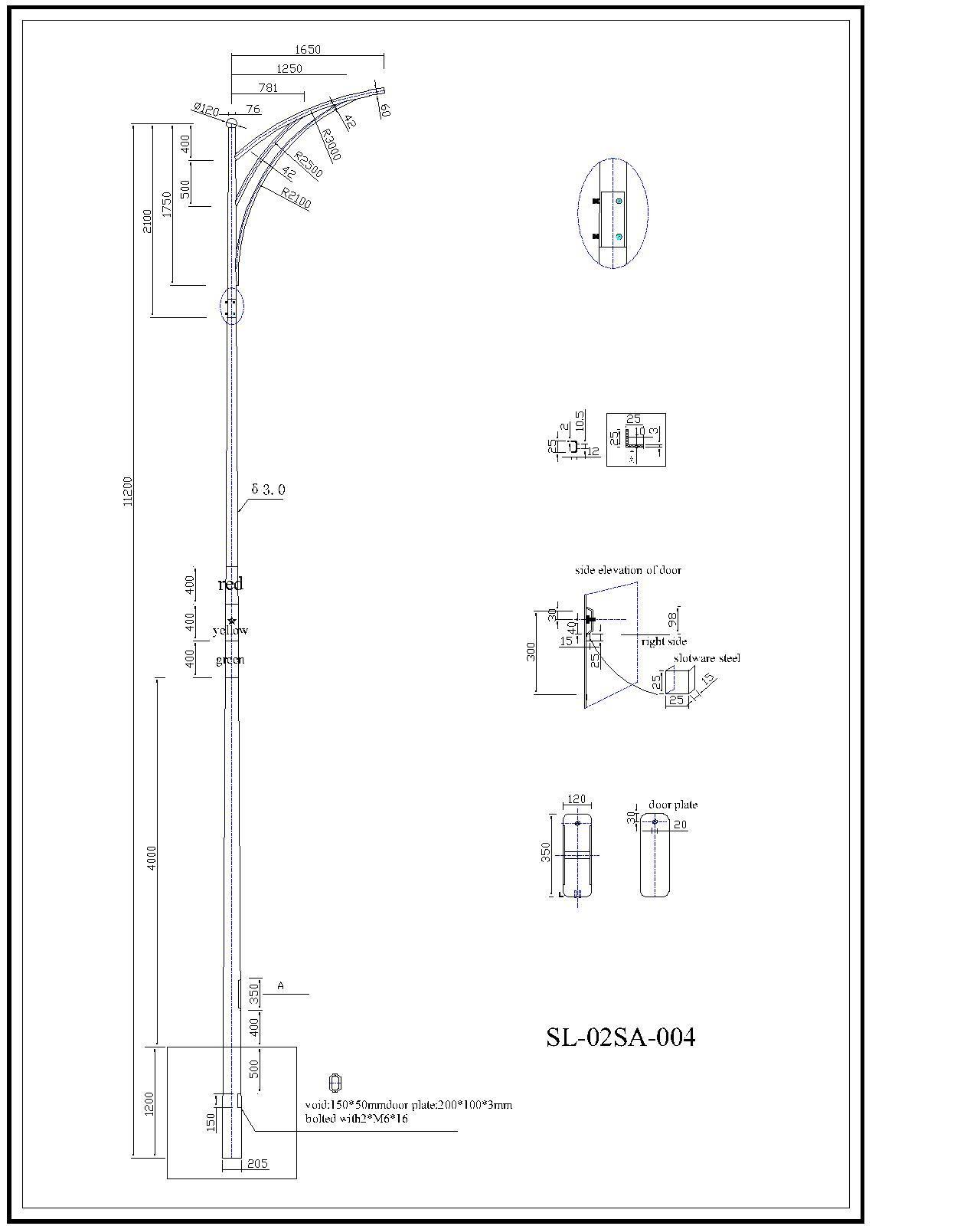 Lighting Pole Double Arm Lighting Pole
