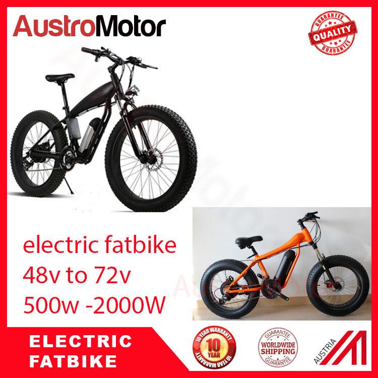 72V30ah 1500W 2000W Fat Electric Bike Electric Fat Bike with MID Motor Hub Motor