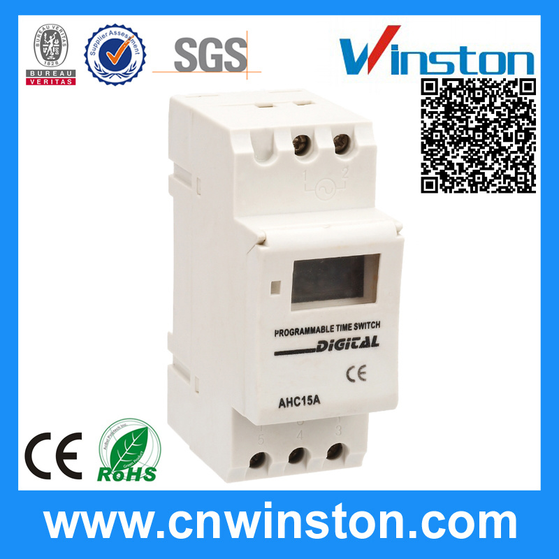 Ahc15A DIN Rail Programmable Digital Electronic Time Switch with CE