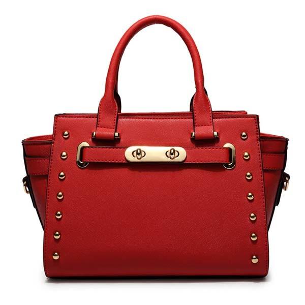 High Fashion Women Rivets Bat Handbag Matching (XP1301)