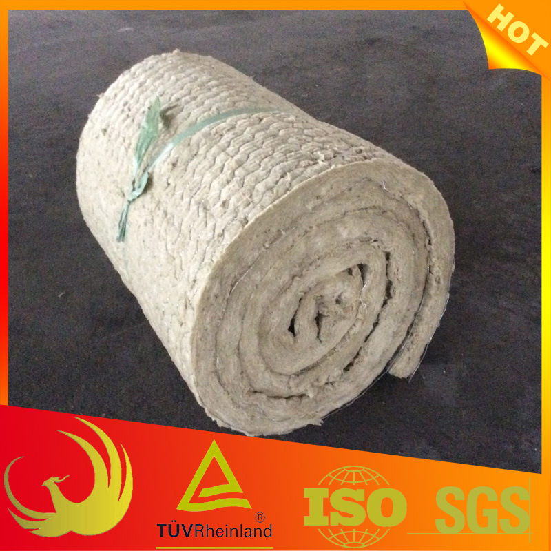 Thermal Rock-Wool Blanket Insulation with Chicken Wire Mesh
