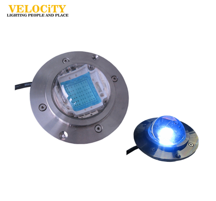 DC12V/DC24V 54W COB DMX512 IP68 RGB Stainless Steel LED Pool Light