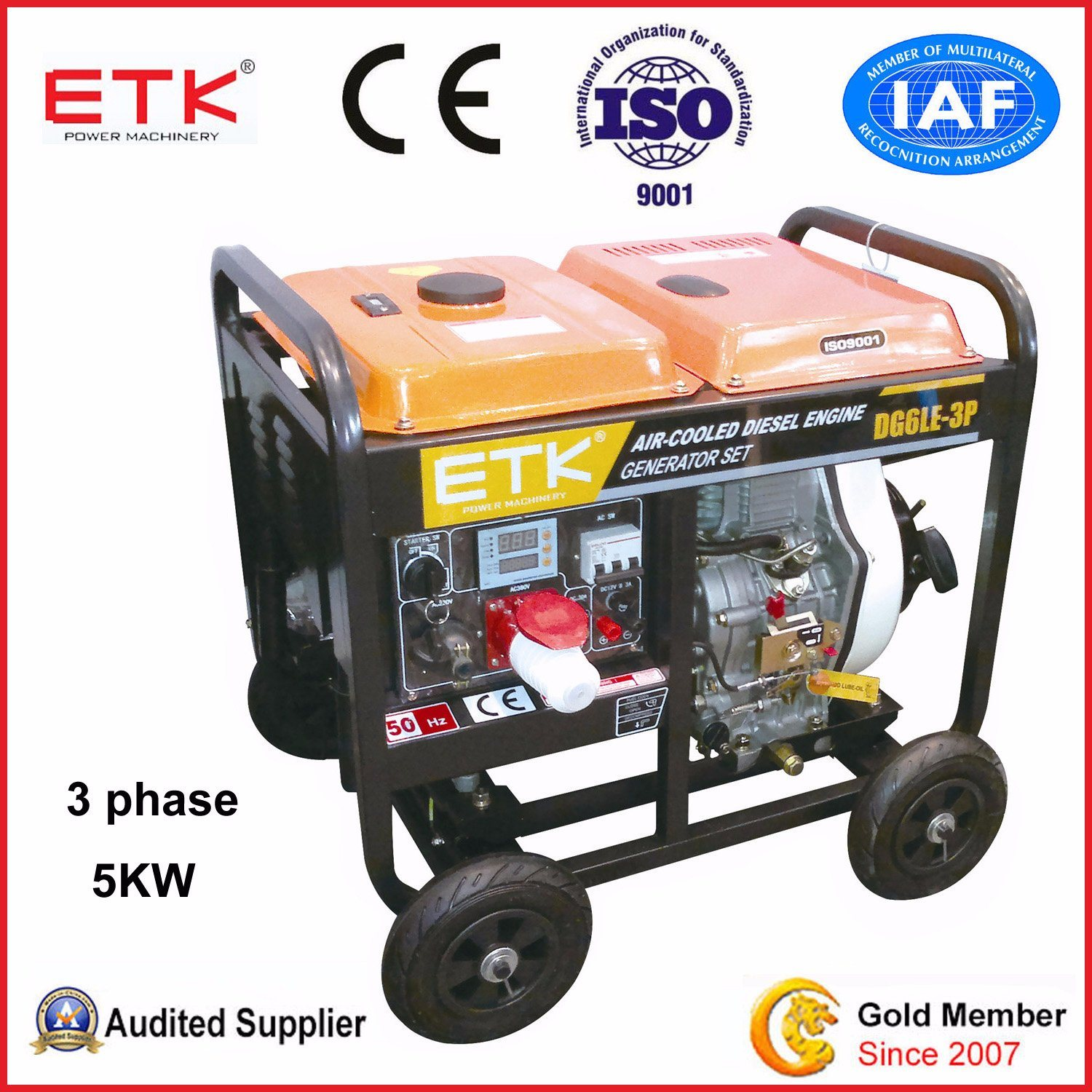 China Small Portable Diesel Generator Set with Ce China Diesel