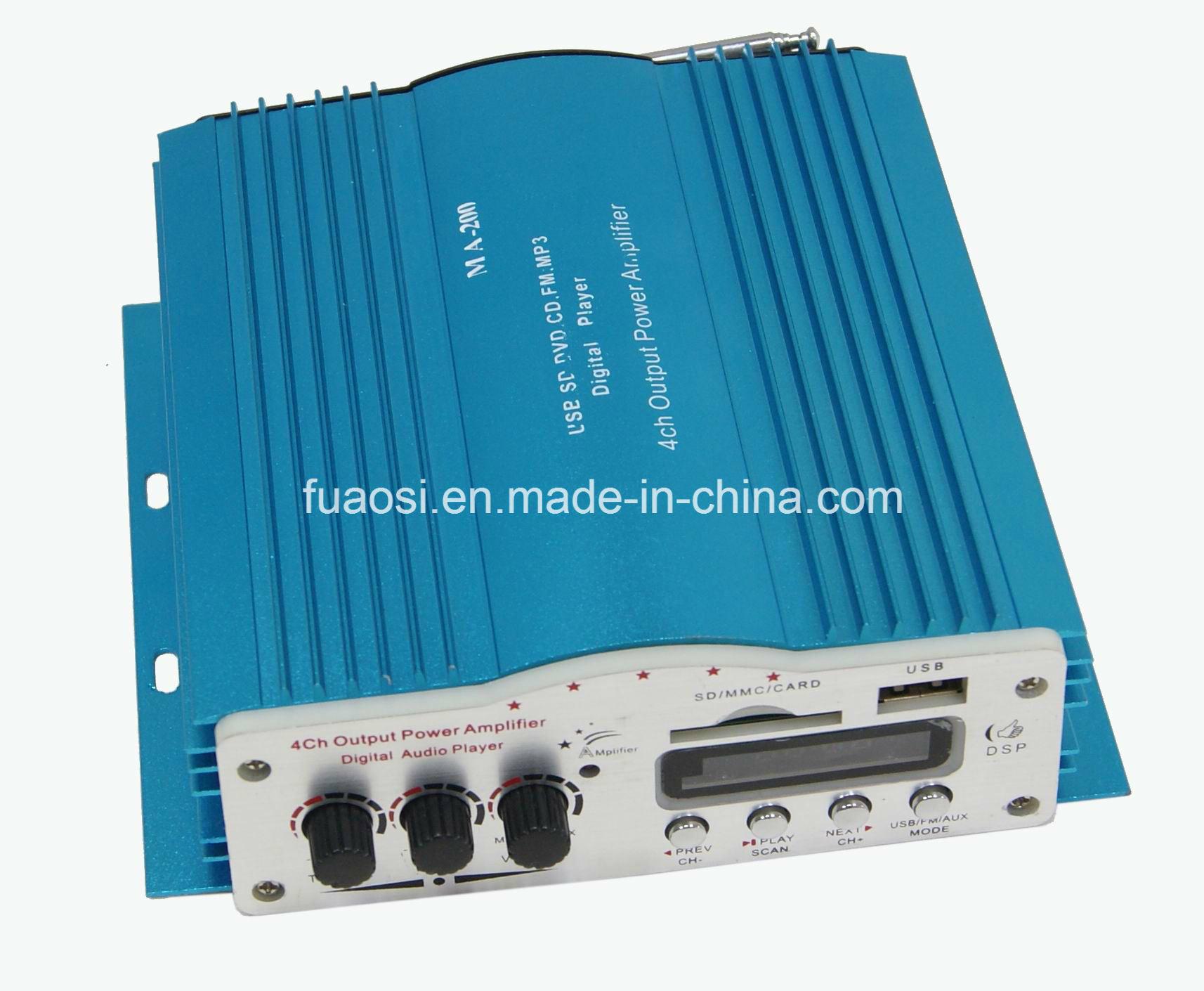 4CH Output Car Digital Audio Amplifier