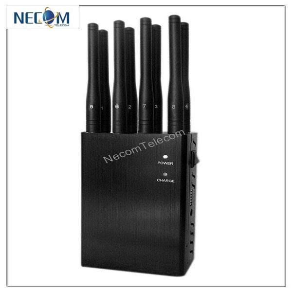 China New Jammer Handheld 8 Bands 3G CDMA GPS Cell Phone Signal Jammer, Portable 8 Antennas Jammer for All GSM/CDMA/3G/4G - China Cell Phone Signal Jammer, Cell Phone Jammer