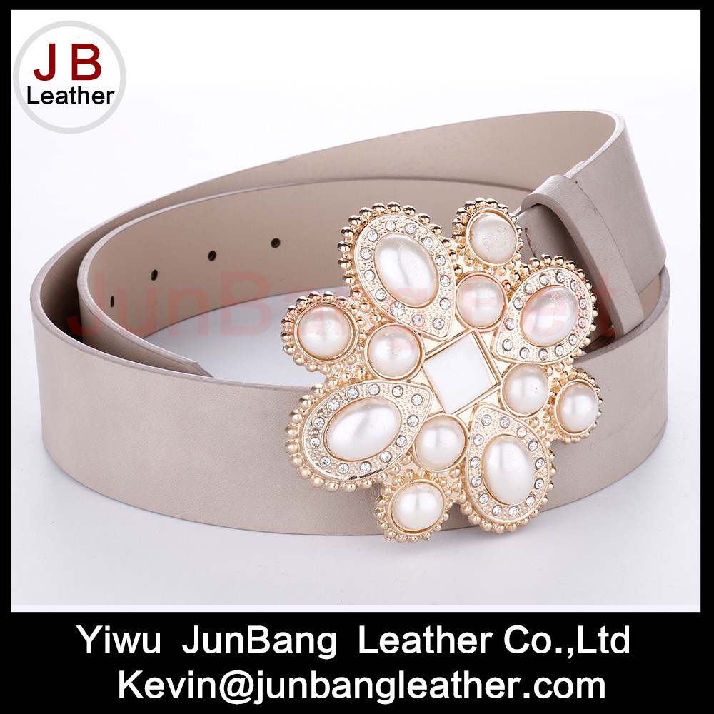 Hot Sell Ladies Fashion PU Leather Belts with Turquoise Stones