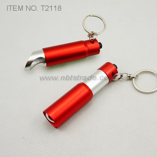 Mini LED Keychain with Bottle Opener