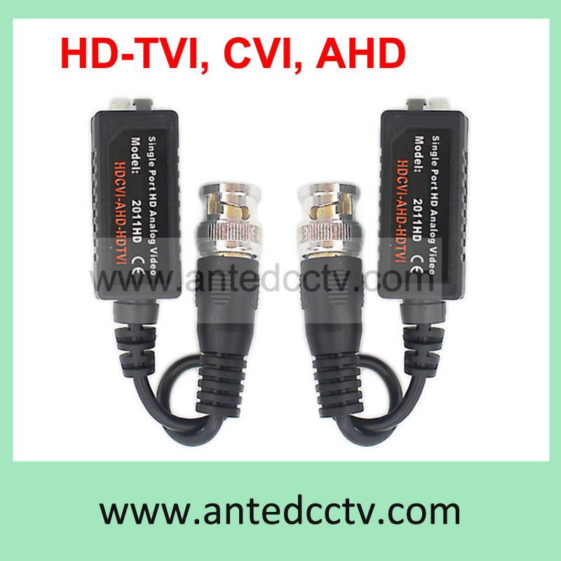 1 Channel Passive CCTV HD-Tvi/ Cvi Ahd Video Balun Male BNC to UTP Cat5/5e/6