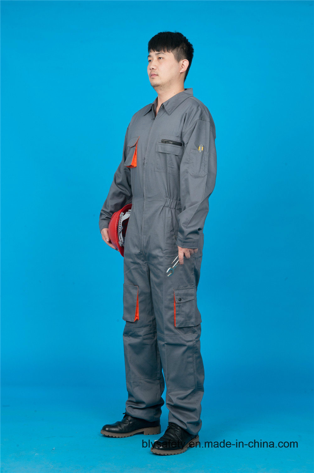 65% Polyester 35%Cotton Safety High Quality Cheap Long Sleeve Coverall (BLY2007)