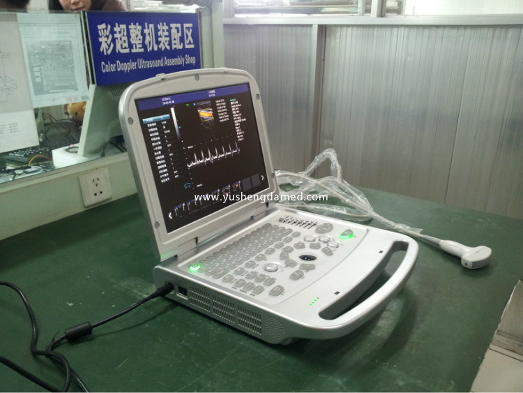 Ce Medical Equipment Digital Laptop 3D/4D Color Doppler Ultrasound Scanner