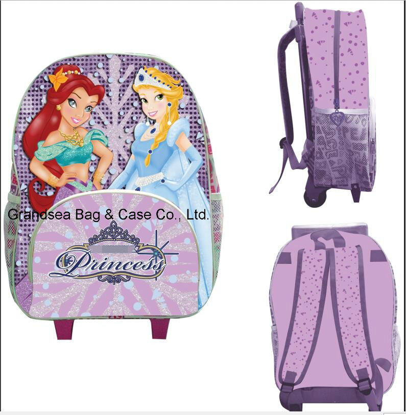 Kids Grls Lovely New Design Children Trolley Luggage School Bags (GB#10008-4)