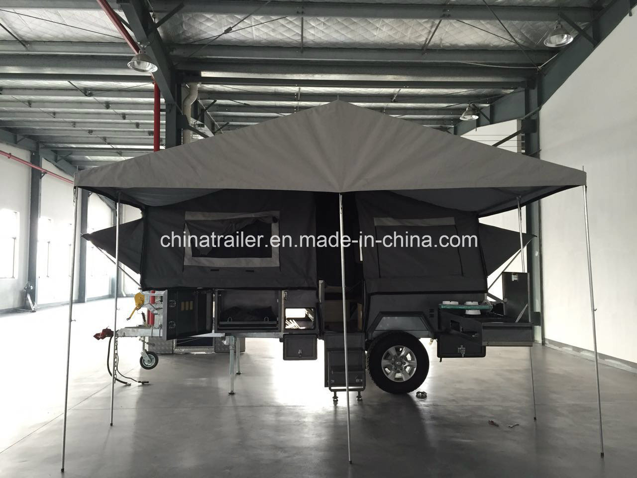 Hard Floor Forward Folding Camper Trailer with Adr Certificate