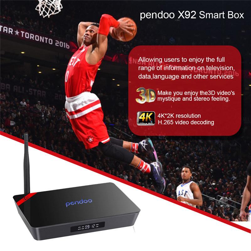 Android 6.0 Smart TV Box Pendoo X92 S912 PRO Amlogic S912 2GB/16GB OEM TV Box