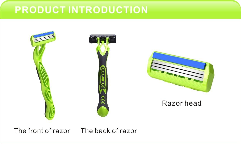Triple Blade Disposable Shaving Razor Compete with Wilkinson