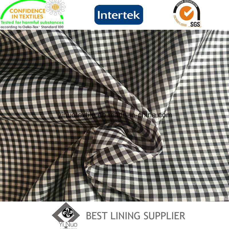 Classic Small Check Pattern Suit Jacket Coat Lining Fabric Supplier