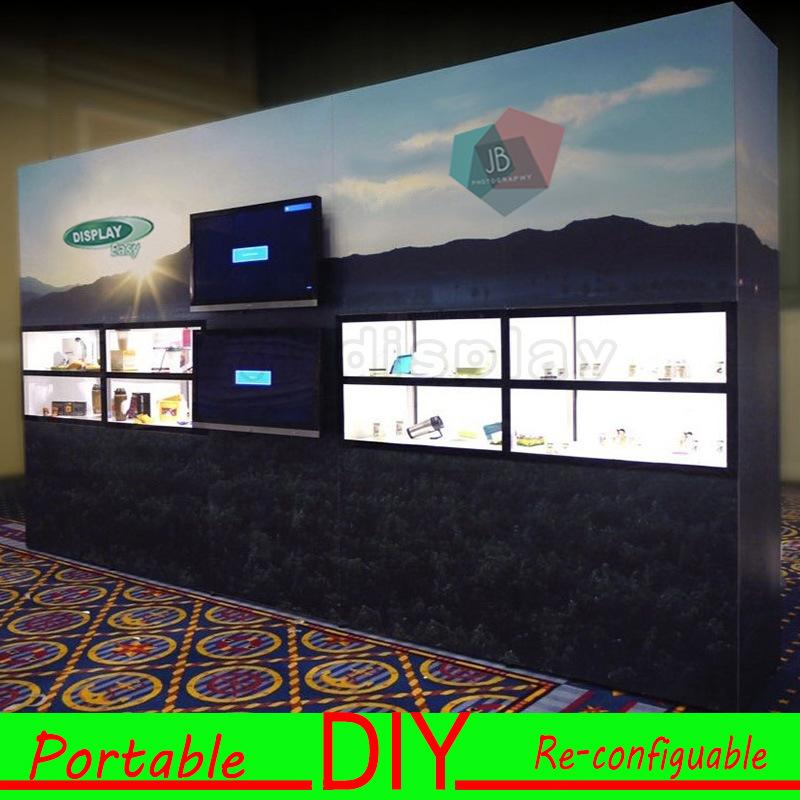 Custom Design Portable Modular DIY Graphic Trade Show Exhibition Backdrop