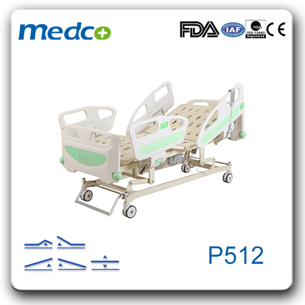 Ce& ISO Five Function Electric ICU Medical Bed