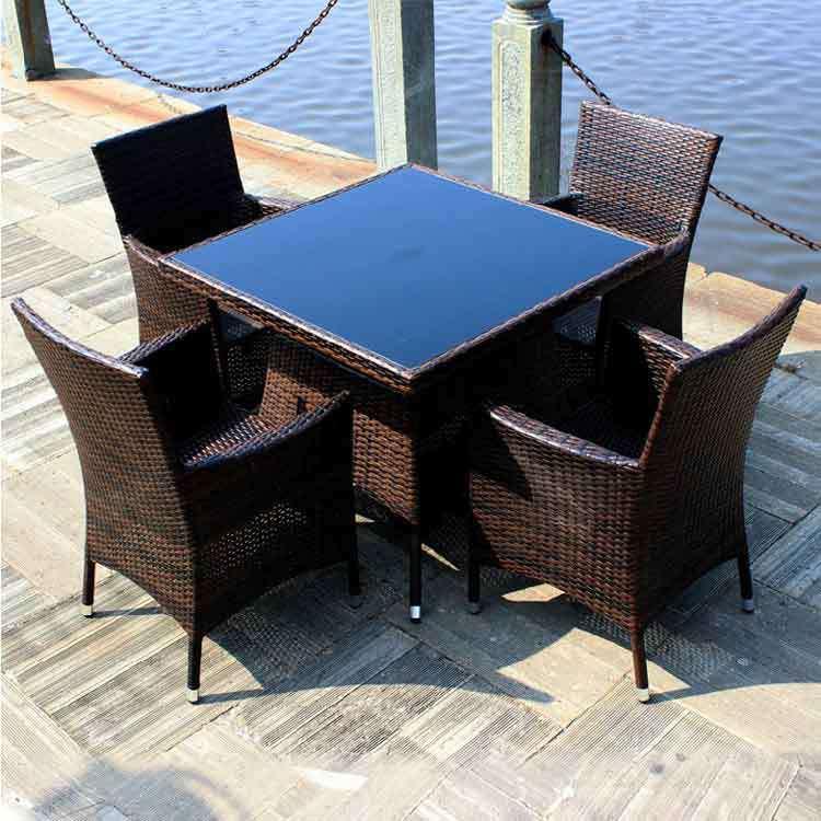 Luxury Outdoor Rattan Wicker Coffee Set Furniture