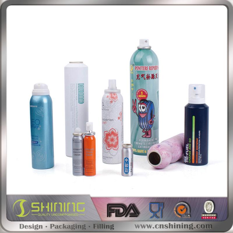Packaging Aluminum Cosmetic Empty Aerosol Can
