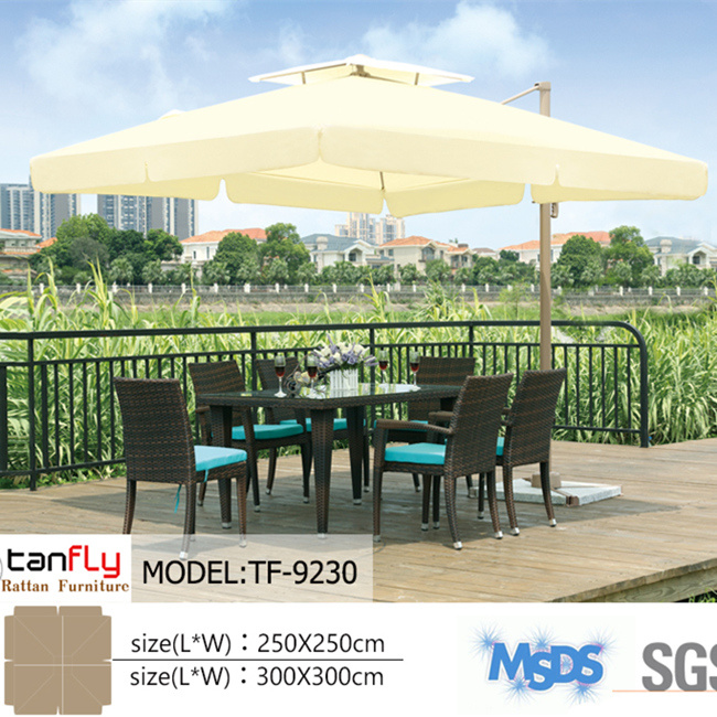 Outdoor Furniture Commercial Parasol Double Top Sun Umbrella
