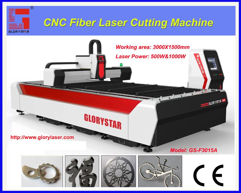500W 1000W 2000W Fiber Laser Cutting for Metal Sheet/Pipe