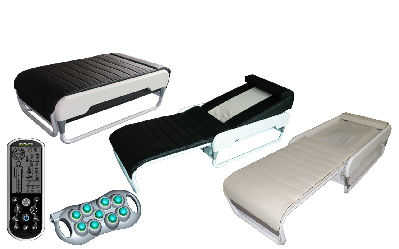 """S"" Track+Spiral Screw and with Back Lift Function Adjustable Thermal Massage Bed with Lifter"