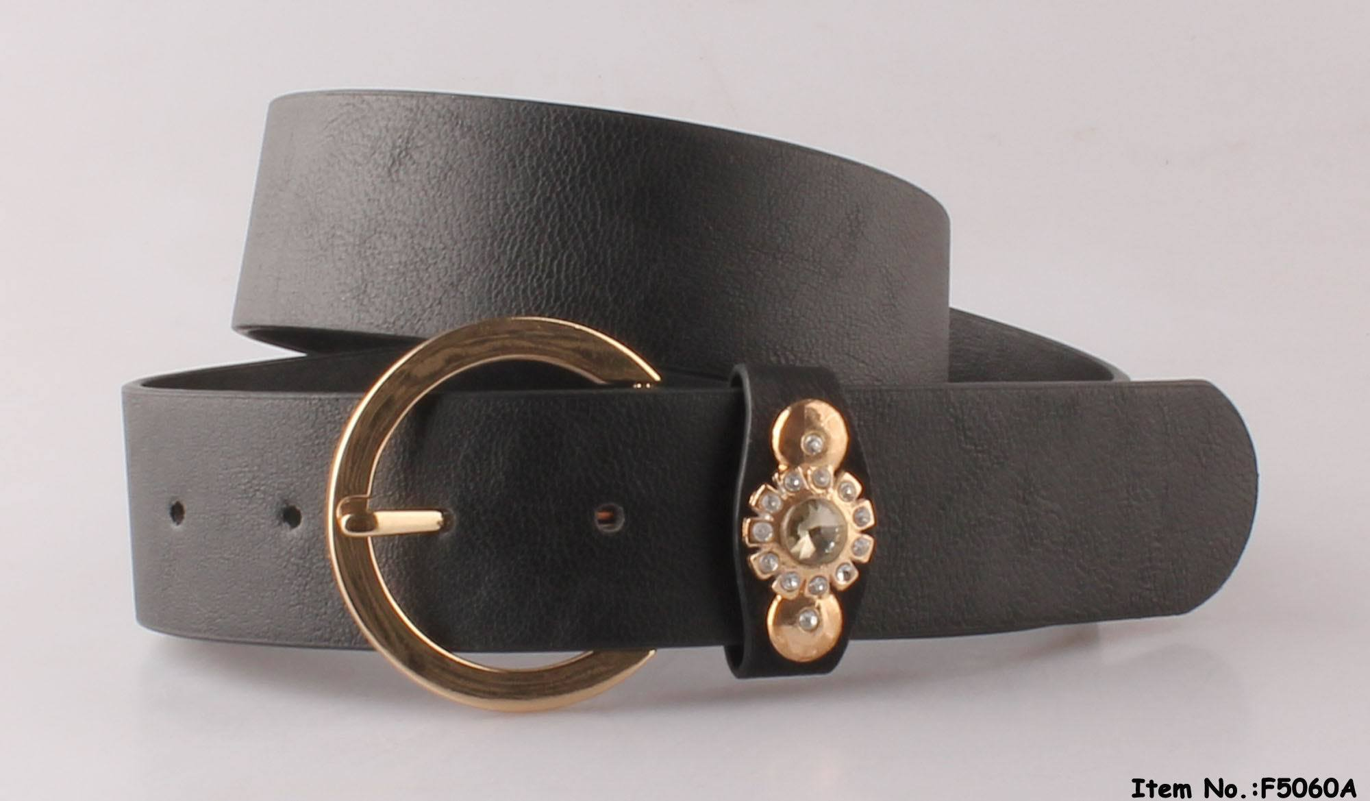 Black Simple Design Lady Belt