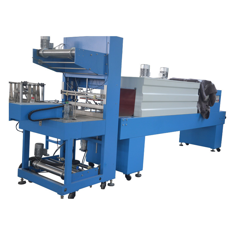 Full Automatic Can Film Shrink Wrapping Machine and Heat Shrink Tunnel