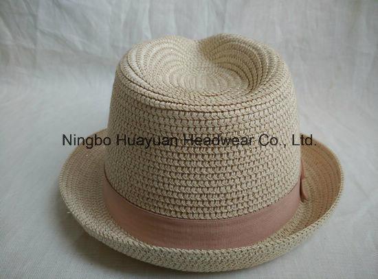 Mettallic Paper Braid Hat