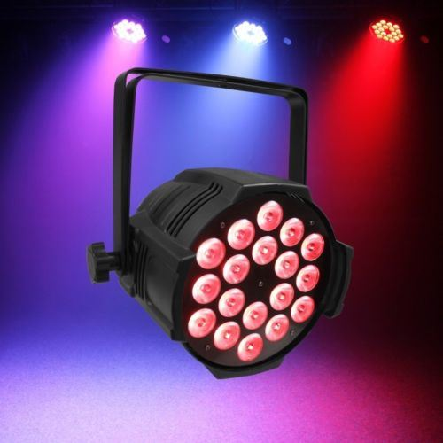 DMX512 18X18W Rgbwauv 6 in 1 DJ Club Party Effect Wedding Light PAR 64 LED PAR Can