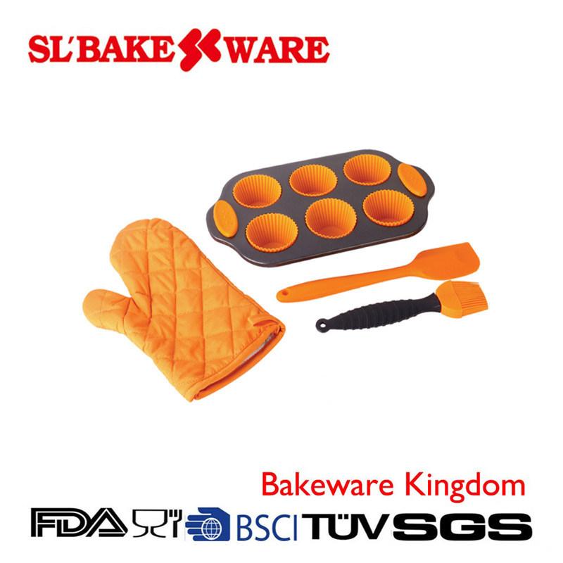 10PCS Baking Sets Carbon Steel Nonstick Bakeware (SL BAKEWARE)