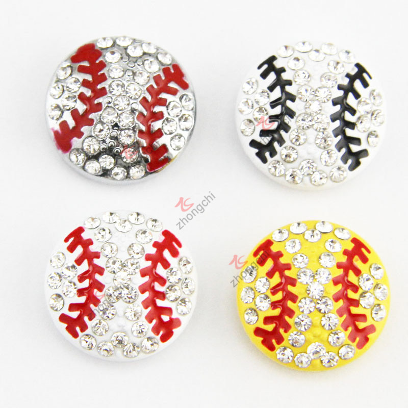 New Design 8mm DIY Base Ball Slide Charms for Jewelry