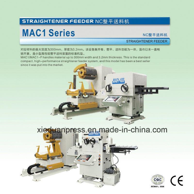 Stamping Production Line, Straight Side Press, 3 in 1 Servo Straightener Feeder