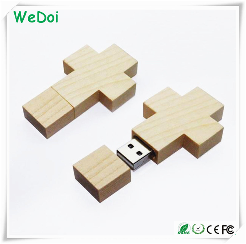 Beautiful Wooden USB Flash Memory as Necklace (WY-W24)
