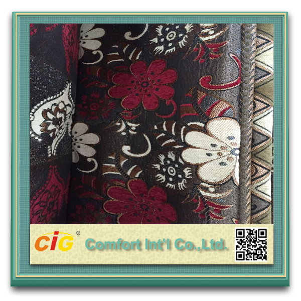 Jacquard Polyester Sofa Fabric Chenille Curtain for Sofa