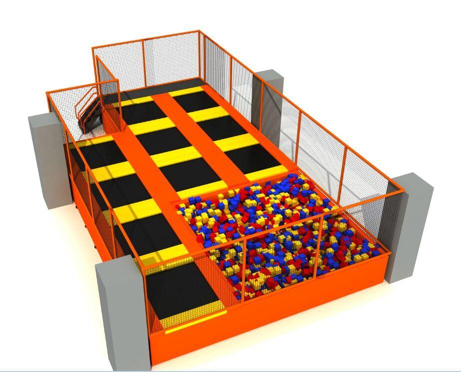 Fire Retardent Jumping Foam Pit, Custom Foam Blocks for Amusement Indoor Trampoline Park