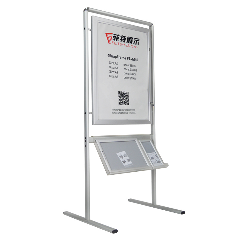 Poster Stand with acrylic Brochure Holder