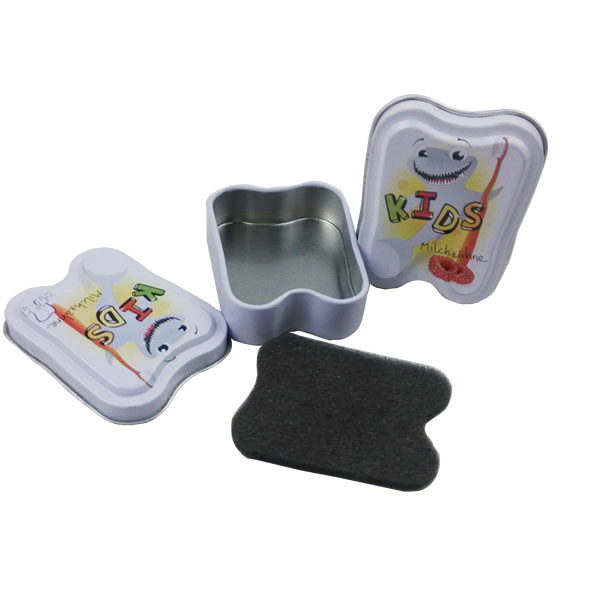 Contact Lenses Package Tin Box with Tooth Shaped Tin