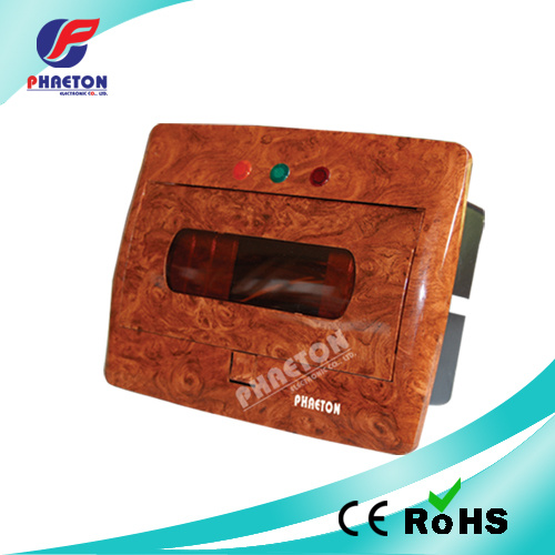 10 Way MCB Electrical Power Distribution Box Wooden Color