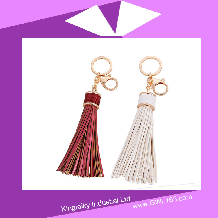 Handmade PU Tassel Key Chain for Handbag P016-003