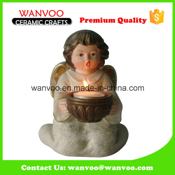 Fancy Design Home Decor Ceramic Decorative Statue for Candle Holder