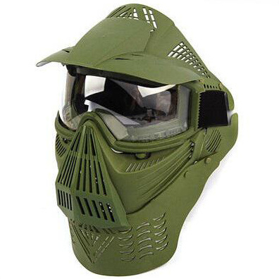 Full Face Airsoft Goggle Lens Mask with Neck Protect