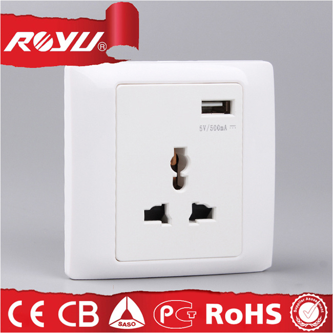 Multi Function Socket with USB Charge, Micro USB Power Socket