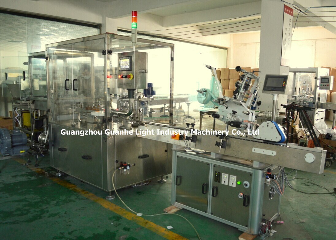 Automatic Pharmaceutical Liquid Filling Capping Machine with Labeling Line